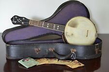Vintage 1930s Gibson UB-3 Banjo Ukulele with original case and strings