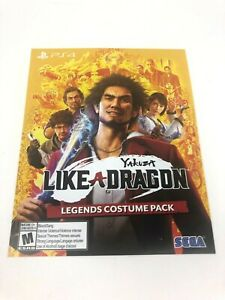 New Unused Insert Yakuza Like A Dragon Legends Costume Pack for PS4 / DLC