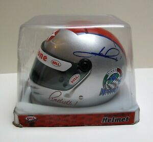 MARIO ANDRETTI AUTOGRAPHED SIGNED 1/2 Scale MINI Bell Helmet - 1994 ARRIVEDERCI