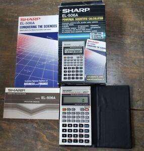 Sharp Scientific Calculator EL-506A with Protective Case, Booklet, Box, & Manual