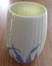 Libbey Corn Maize Vase, Blue on White, 1889