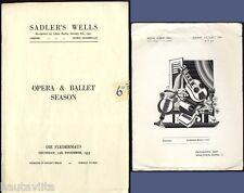 DieFledermaus SadlersWells Opera Ballet Program + RoyalAlbert Hall Brochure 1953