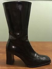 Ralph Lauren Purple Tag Boots Women's Size 7 B Made In Italy