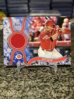 2018 Topps Holiday Mega Box Joey Votto Game Used Jersey Patch Relic SP Reds!!!