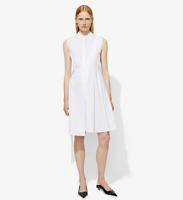 NWT $850 Proenza Schouler Sleeveless Side-Wrap Pleated Poplin Dress Size 4