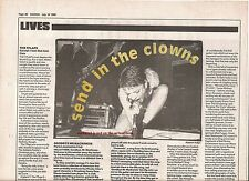 GOODBYE Mr MACKENZIE concert review 1990 UK ARTICLE/clipping - Shirley Garbage