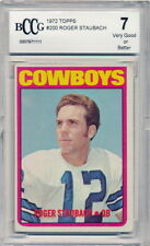 1972 Topps Roger Staubach Rookie Card Graded BCCG 7