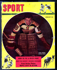 Sport Magazine Feb 1948, Goaltender Frank Brimsek Goaltender on Cover