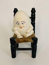 Vintage Allyson Nagel 1993 Humpty Dumpty sitting on chair Hawthorne