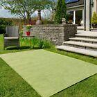 Green Outdoor Patio Rugs Plain Modern Garden Summer Mats Washable Flatweave Mats