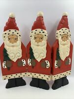 Vintage Santas Midwest of Cannon Falls MCF Hinged Wooden Wood Folk Art Christmas