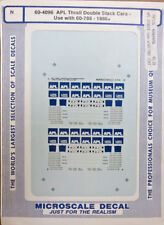 """Microscale 60-4096 """"APL Thrail Double Stack Cars"""" Decal Set N-Scale NOS"""