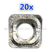 10 to 60 Pcs Aluminum Foil Square Gas Burner Disposable Bib Liners Stove Covers