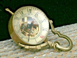 See-through Antique Caifu Made 1856 Glass Ball Mechanical Watch - Nice