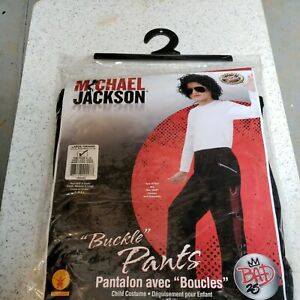 Michael Jackson Bad Buckle Pants Pop Star Fancy Dress Up Halloween Child Costume
