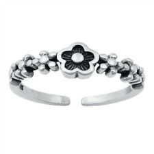 925 Plain Best Choice Jewelry Oxidized Flowers Toe Ring Genuine Sterling Silver