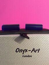 Onyx Art Gemelli Nuovi e Confezionati Cilindro Tubo Blu ck348