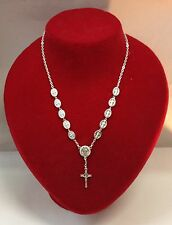 San Benito/St Benedict Medal Cross Necklace Rosary-Blessed by Pope upon request