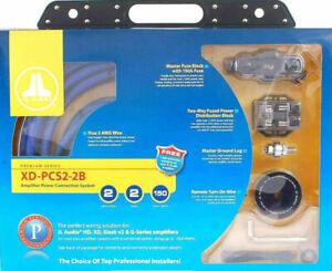JL Audio XD-PCS2-2B Dual Amplifier Wiring Kit 2 GA AWG Premium Series Brand New