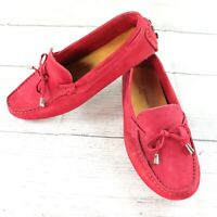 Mercanti Fiorentini Womens Shoes Perf Loafer Magenta Driving Suede Size 7.5B