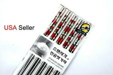 10 Chopsticks Stainless Steel Red Rose Flowers Design  Prints Gift Set (5pairs )