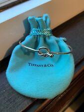 Tiffany & Co. Retired Sterling Silver 925 & 18K Gold Love Knot Bangle Bracelet