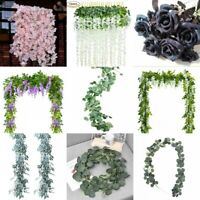 Lots Artificial Plants Flower Greenery Garland Vine Faux Silk Vines Leaf Wreath