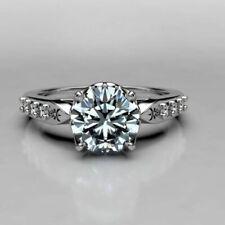 Engagement Wedding Ring 925 Sterling Silver 2.45 Ct Best Round Cut Diamond Vvs1