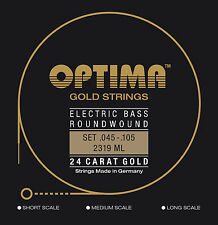Optima 24 K Gold Bass Strings 45-105 - BG2319