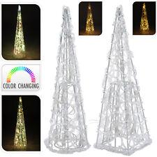 LED Pyramide 10 LEDs Farbwechsel Fensterdeko Leuchtpyramide Lichtdeko 30cm KM