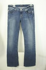 Rock & Republic sz 27 (32x35) KASANDRA Flare Jeans EUC embroidery R pockets LOW