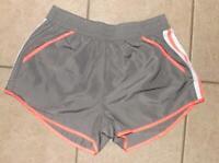 Athletic Gray XL 16 / 18 Elastic Waist Running Shorts Front Pockets ZONE PRO