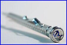 830S Silber Dreh Bleistift m Globus Werbung  / GLOBE adv. Pencil f 1.18mm refill