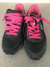Puma Ladies Gray and Pink Sneakers Size 9