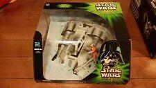 💥Star Wars 2001 Power of the Jedi Luke Skywalkers Snowspeeder with Dack Ralter