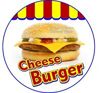 Cheese Burger DECAL (Choose Your Size) Concession Food Truck Circle Sticker