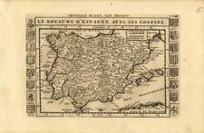 Antique Map-SPAIN-PORTUGAL-COAT OF ARMS-Weege-1753