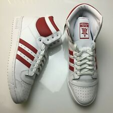 ADIDAS ORIGINALS TOP TEN HI Red WHITE OG LEATHER Mens Sizes NEW