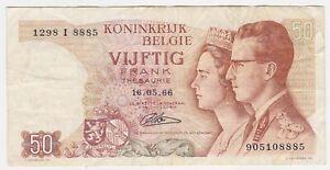 Belgium REPLACEMENT I P 139 - 50 Francs 1966 - VF