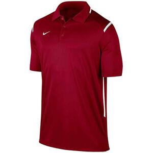 Nike Team Gameday Polo Shirt Cardinal Red Burgundy 706710-612 XL Football NCAA