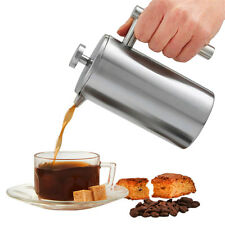 Double Wall Stainless Steel French Press Coffee Maker Tea Pot Plunger Filter OZ