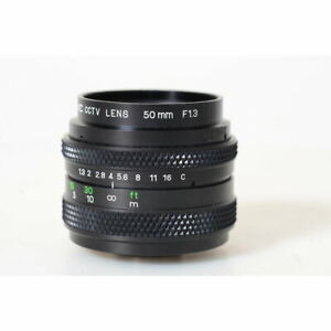 741326 - IVC TV-Lens 1,3/50 mit C-Mount Anschluss - Adaptierbar - 50mm F/1.3