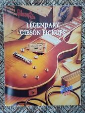 1991 Gibson Guitars Pickups Catalog/Brochure Humbucker, P-90 & More Case Candy