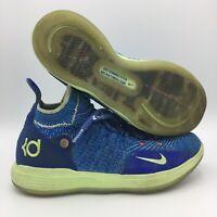 Nike KD 11 React Zoom Blue / Neon Yellow Youth Sz 5.5 (US)