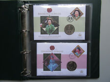 2012 - The Queen's Diamond Jubilee Coin Cover Collection - 10 Coin Covers