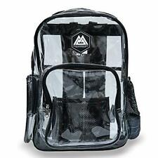 RIO Heavy Duty Clear Backpack - Cool Clear Backpacks (Coban, Large) Large Coban