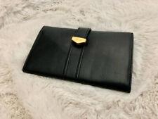 Vintage Black Wallet  Men. Leather