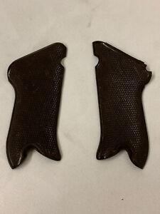 Original rare german luger P08 Krieghoff brown plastic grips