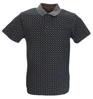 Merc Black Polka Dot Polo Shirts