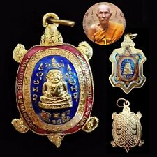 1 MAGIC TURTLE Coin PhayaTow Smile Buddha LP Liew Lew 3 Color Lucky Rich Amulets